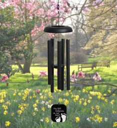 Footprints Pewter Wind Chime