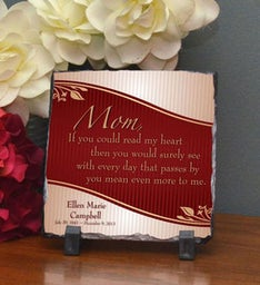 Mom Means More Small Plaque