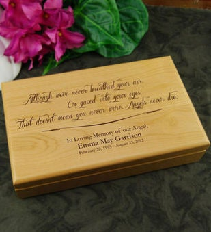 Angel Never Die Keepsake Box