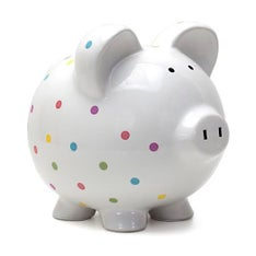 Personalized Hand-Painted Confetti Piggy Bank
