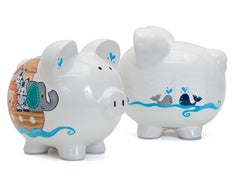 Personalized Hand-Painted Noahs Ark Piggy Bank