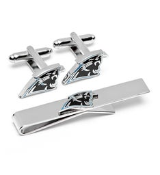 Carolina Panthers Cufflinks and Tie Bar Gift Set