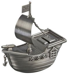 Personalized Pirate Ship Bank
