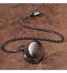Custom Gun Metal Pocket Watch