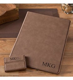Personalized Portfolio  Business Card Case Set