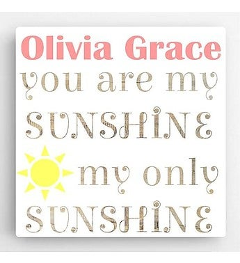 Personalized Sunshine Girl Canvas Sign