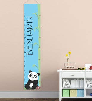 Personalized Panda Height Chart
