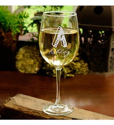 Personalized Monogram White Wine Glass