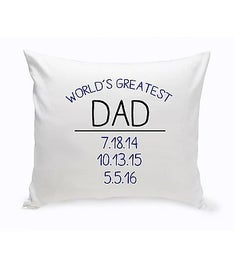 Personalized Worlds Greatest Throw Pillow