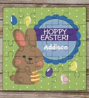 Hoppy Easter Personalized Kids Puzzle