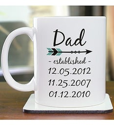 Personalized Dad Established Mug