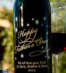 Personalized Classic Fathers Day Wine