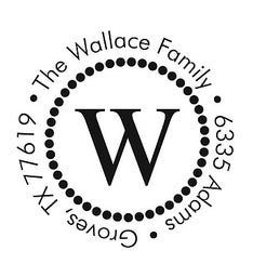 The Wallace Polka Dot Round Self-Inking Stamp