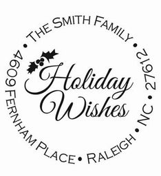 Holiday Wishes Personalized Self-Inking Stamp
