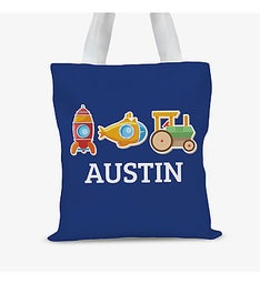 Personalized My Little Working Man Kids Tote Bag