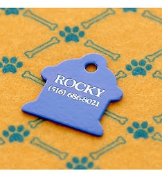 Personalized Fire Hydrant Blue Dog Tag
