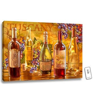 Personalized Tuscan Bottles Illuminated Fine Art