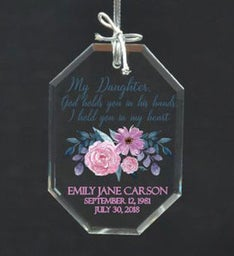Personalized My Daughter in Heaven Ornament
