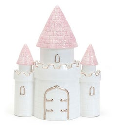 Personalzied Pink Dream Castle Piggy Bank