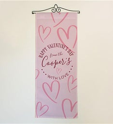 Personalized Valentines Day Door Banner