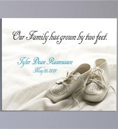 New Baby Personalized Wall Art