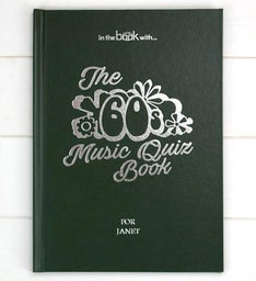 Personalized 1960s Music Quiz Book