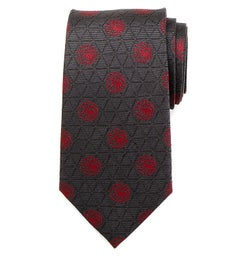 Targaryen Geometric Sword Gray Mens Tie