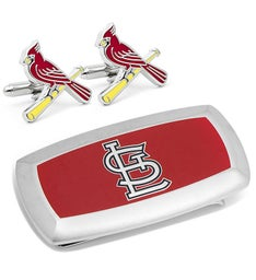 St Louis Cardinals Cufflinks  Cushion Money Clip
