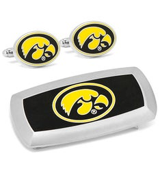 University of Iowa Hawkeyes Cufflinks  Money Clip