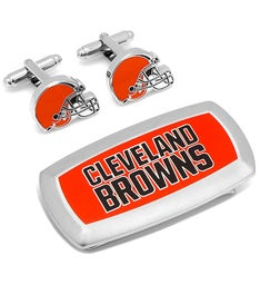 Cleveland Browns Cufflinks  Money Clip