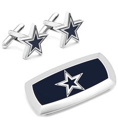 Dallas Cowboys Cufflinks and Cushion Money Clip