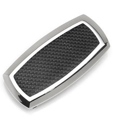 Stainless Steel Inlaid Black Carbon Fiber Clip