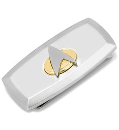 Two-Tone Delta Shield Cushion Money Clip