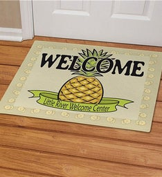 Personalized Pineapple Welcome Doormat