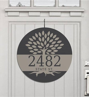 Personalized Family Tree Address House Sign