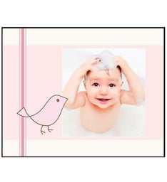 Personalized Pink Birds Photo Panel