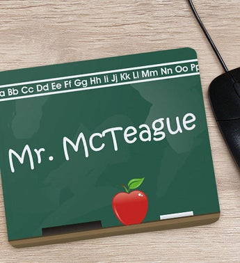 Personalized Chalkboard Design Teacher Mouse Pad