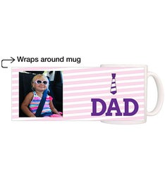 Personalized Dad Purple Tie Magic Mug