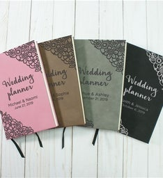 Personalized Wedding Planner Leather Journal