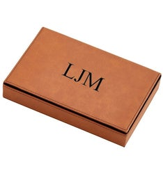 Personalized Leatherette 2 Card Deck Set