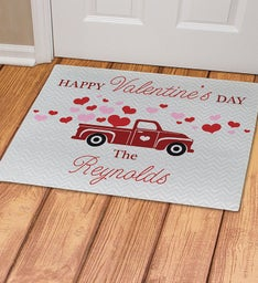 Personalized Happy Valentines Day Truck Doormat