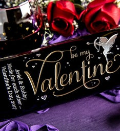 Be My Valentine Personalized Wine Bottle