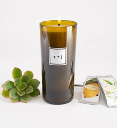Modern Monogram Personalized Candle