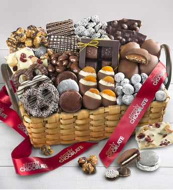 Simply Chocolate Deluxe Splendid Sweets Basket