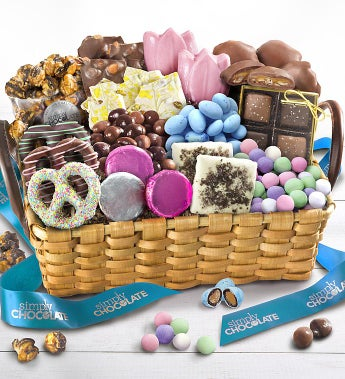 Simply Chocolate Deluxe Celebrate Spring Basket