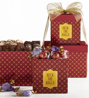 Deck the Halls Holiday Chocolates Tower