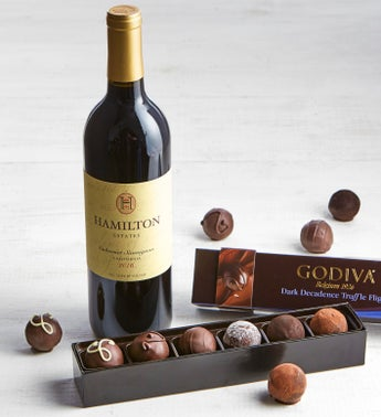 Godiva Dark Decadence Truffle Flight Box  Wine