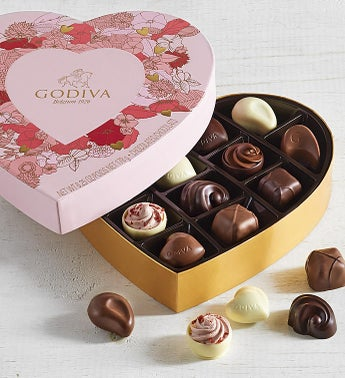 Godiva Limited Edition Valentine Heart Box 14pc