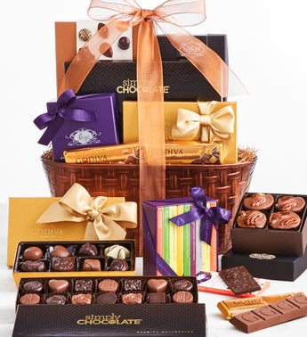 Exclusive Premier Brands Chocolates Gift Basket