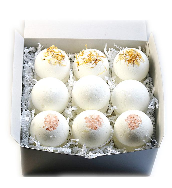 Nine Bath Bombs Gift Set